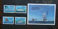 Barbuda 1984 Ships Set & Miniature Sheet MNH