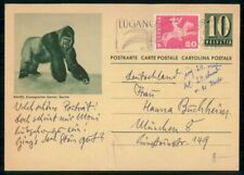 Mayfairstamps Switzerland Gorilla zoo Basel Stationery to Munich Postal Card wwf