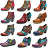 SOCOFY Women's Zipper Ankle Boots Mid Heel Leather Pumps Splicing Handmade