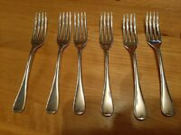 EPNS (A1) England 6 x Forks (Hallmarked 3dwts) Silver Plated (31)