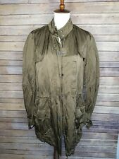 Vince Small Womens Oversize Dark Olive Army Green Military Long Jacket