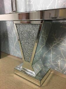 Crush Diamante Crystal Jewel V Shape Mirror Console Table
