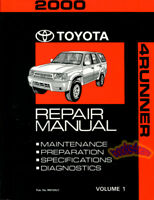 SHOP MANUAL 4RUNNER SERVICE REPAIR 2000 TOYOTA BOOK