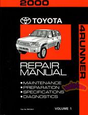 SHOP MANUAL 4RUNNER SERVICE REPAIR 2000 TOYOTA BOOK