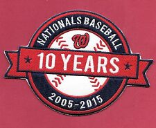 """New Washington Nationals '10 Years' 3 1/2 X 5  """" Iron on Patch Free Shipping"""
