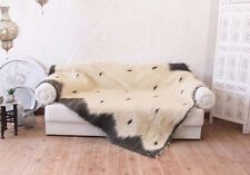 White Throw Queen Bed Soft Blanket Wool Sofa Coverlet Scandinavian Home Decor
