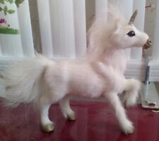 cute simulation Unicorn toy lovely white unicorn doll gift about 18cm