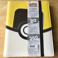 More details for ultra pro ultra ball premium pro-binder - leatherette (holds 360 cards) pokemon!