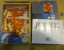 Indiana Jones Temple of Doom [Nintendo NES Cartridge, box, manual]