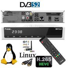 Protek 9911 LX HD HEVC265 E2 Linux HDTV Receiver mit 1x Sat Tuner inkl W-Lan