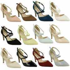 Anne Michelle Court Synthetic Slim Heels for Women