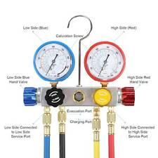4 Way Manifold Gauge Set R410 R22 R134a Professional Achvac 4 Hose Set Tool
