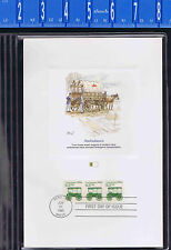 1860's Amulance Transportation Coil #2128 FLEETWOOD FDC PROOFCARD