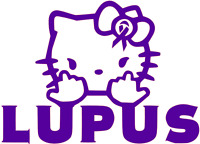 LUPUS DECAL AWARENESS KITTY vinyl car window  sticker 13 COLORS