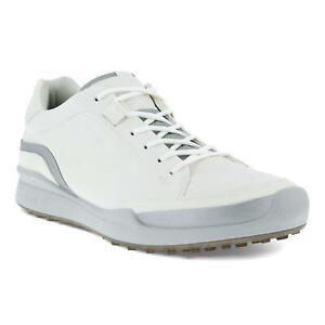 Ecco Men's Golf Biom Hybrid Laced Golf Shoes - 13164460057 - White/Silver