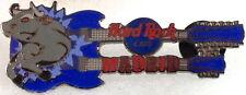 Hard Rock Cafe MADRID 2000 BULL Crashing Through Blue DN GUITAR PIN - HRC #5134