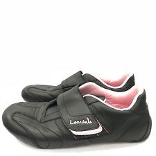 Lonsdale Negro De Cuero Rosa Hook & Loop Zapatillas Casual Talla Eu 42 UK 8 36126