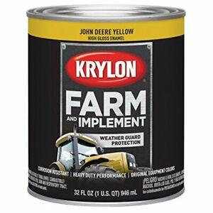 Krylon 2025 John Deere Yellow Farm & Implement Paint, 1 Quart
