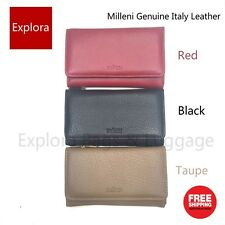 Milleni Genuine Leather Classic Lady wallet with Coin Purse RFID Protected