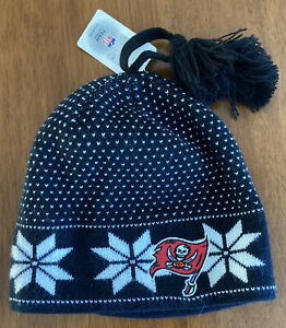 Tampa Bay Buccaneers NFL Women's Winter Beanie Ski Cap Hat with Pom Brand New