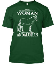 Easy-care Andalusian Horse - Never Underestimate A Woman Premium Tee T-Shirt