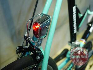 Old School Bike Light / Chrome Bicycle Tail Light / Retro Back Light / Metal LED