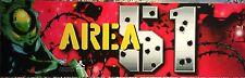 "Area 51 Arcade Marquee 26""x8"""