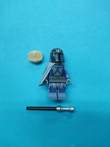 Lego Star Wars Minifigure Mandalorian Pre Vizsla EUC w/ Darksaber 9525 CloneWars