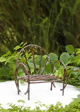 Miniature Dollhouse FAIRY GARDEN Furniture ~ Rustic Antiqued Metal Vine Chair