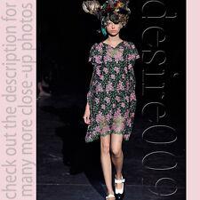 Junya Watanabe Comme des Garcons Battenberg Dress Mesh Floral Brocade XS-M