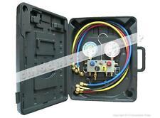 4-way manifold Mastercool 95136-MB with hoses 90cm R134a R404A R407C R507A R22