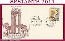 ITALIA FDC FILAGRANO TURISMO ROMA CAPITELLO CORINZIO 1966 ROVIGO G46
