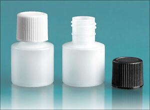 1/4 oz (7.5 ml) LDPE Squeezable Plastic Bottles w/Caps (Lot of 200)