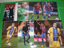 Crystal Palace FC 14 x Signed 2012/13 Promotion Season 12x8 Player Photographs