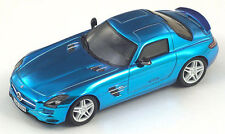 Spark 2009 Mercedes-Benz SLS AMG Chrome Blue Gullwing 1:43*New Hot Color!