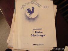 Helen MacGregor: Cock-a-Doodle-Doo, Piano (Schroeder & Gunther)