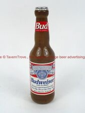 1980s Budweiser Beer figural Bottle 8 inch Wood Tap Handle TavernTrove