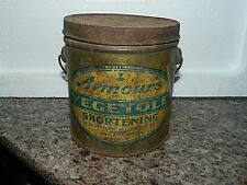 2 lb Armour's Vegetole Shortening a Pure Vegetable Product Tin Can with Handle