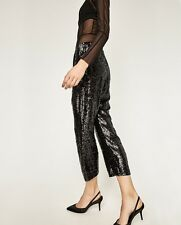 Zara Sequinned Trousers - Size S (Ref. 6189/241)