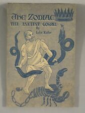 THE ZODIAC: THE ANCIENT GOSPEL by Luke Rader Astrology Illustrated Vintage Book