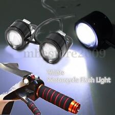 2x Motorcycle ATV LED Mirror Warming Flash Decor Strobe Light Super Bright  /