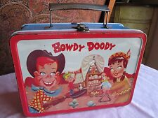 FINE VINTAGE METAL 1954 HOWDY DOODY LUNCHBOX ADCO-LIBERTY  Estate Auction find