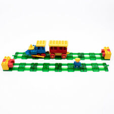 Lego Duplo Train / Car Green Track BUNDLE with Launchers / Buffers and Figure