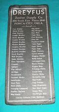 VINTAGE 30s 40S BLACK  BLOTTER DREYFUS JANITOR SUPPLY PONCA CITY OK 4 X9+ ORIG