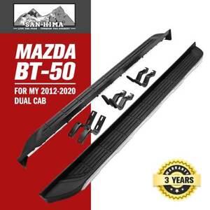 Running Boards Side Steps For Mazda BT-50 MY 2012-2020 Dual Cab Black