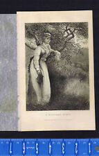 Woodland Nymph - Woman Holding Book Leaning on a Tree -1878 Victorian Era Print