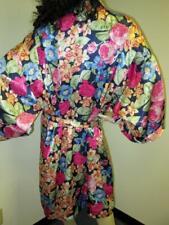 "Vintage: ""Solange Satin� Shiny Floral Satin Robe 22-28"