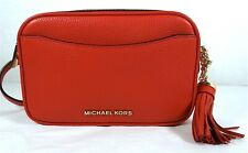 Michael Kors Pebble Leather Convertible Crossbody Belt Bag in Bright Red
