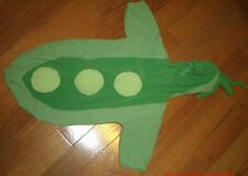 Baby Beginnings Green Pea Pod Halloween Costume Infant  Boy Girl Size 3-6 months