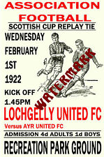 LOCHGELLY UNITED - VINTAGE 1920's STYLE MATCH POSTER